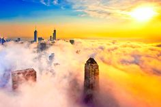 Foggy Day, Chicago, Illinois