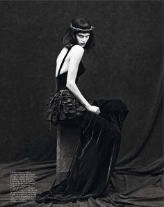 le noir partie 3: saskia de brauw by mert and marcus for vogue paris september 2012
