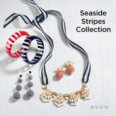 Goldtones and stripes. #jewelry https://tseagraves.avonrepresentative.com/