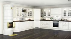 herregårdskjøkken - Google-søk Kitchen Cabinets, Home Decor, Google, Kitchen Cabinetry, Homemade Home Decor, Decoration Home, Kitchen Shelving Units, Dressers, Home Decoration