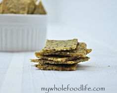 Gluten Free Herb Crackers.  These are really good and easy to make.  Vegan.
