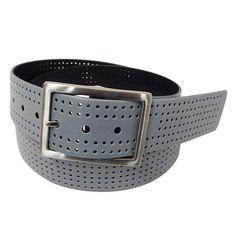 Men's PGA Tour Reversible Perforated Golf Belt, Size: 44, Dark Grey