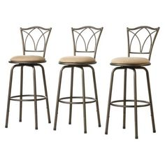 Landen Double Cross-Back Barstools - Set of 3