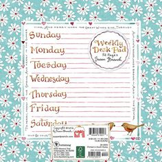 Susan Branch Weekly Deskpad #susanbranch #plan #calendar #weekly
