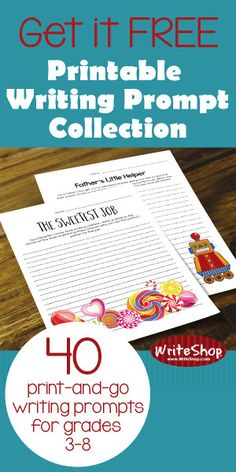 Printable Writing Prompt Collection free for subscribers (limited time)