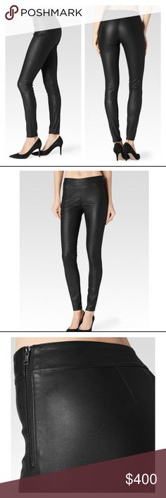Molly legging - Black leather SKU 2560596-1086 W1086 $995.00 sale on website $597.00 An easy pull-on pant made from 100% lamb leather for a buttery feel. Features seams at both knees for a moto vibe. It comes with an ultra skinny fit and is perfect for day or night.An easy pull-on pant made from 100% lamb leather for a buttery feel. Features seams at both knees for a moto vibe. It comes with an ultra skinny fit and is perfect for day or night. SPECIFICATIONS  Stretch Leather 100% Lamb…