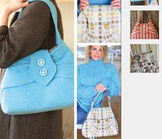 Streetcar Bag Sewing Pattern & Free Bonus Crochet Pattern #sewing