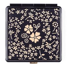 Black Beige Lacquer Deerskin Compact Mirror ($36) ❤ liked on Polyvore featuring beauty products, beauty accessories, beauty, filler and black beauty products