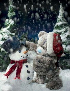 tatty teddy building a snowman 3d Christmas, Christmas Scenes, Christmas Pictures, Beautiful Christmas, Vintage Christmas, Xmas, Tatty Teddy, Teddy Beer, Teddy Bear Design