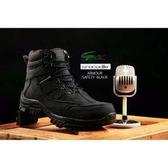 Sepatu Boot Pria crocodile Armour safety ujung nya besi  BISA BAYAR DI  TEMPAT PROYEK LAPANGAN ac10bb9991