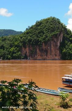 . A boat ride to the Buddha caves on the other side of the river. They house thousands on Buddha icons. A short trip from Luang Prabang Laos