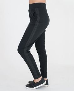 Beaumont Organic - Andi Lyocell And Cotton Trousers - Black And Dark Grey / Small - Black/Grey