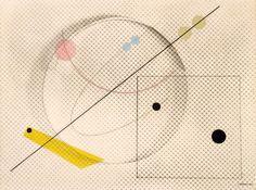 """Luigi Veronesi - Composizione n.51, 1938  Mart, Collezione VAF-Stiftung  """"La Magnifica Ossessione"""" www.mart.tn.it/magnificaossessione"""