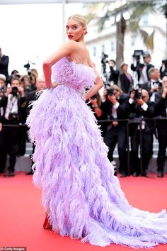 "Elsa Hosk Photos - Elsa Hosk attends the screening of ""Sibyl"" during the annual Cannes Film Festival on May 2019 in Cannes, France. - 'Sibyl' Red Carpet - The Annual Cannes Film Festival Amal Clooney, Elsa Hosk, Sonam Kapoor, Deepika Padukone, Peach Gown, Red Carpet Party, Ralph & Russo, Shanina Shaik, Victoria's Secret"
