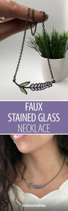 Faux Stained Glass Necklace #jewelry