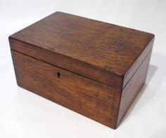 Victorian Antique Wooden Box - Mid to Late 1800's.