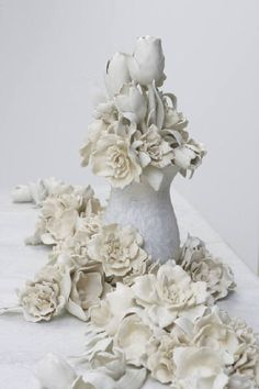 wow. Love Giselle Hicks' work--so elegant, feminine, classic...makes me want to do a Kohler residency to see what I would come up with (using ceramic technology for art)!