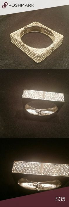 Selling this Beautiful square rhinestone bracelet on Poshmark! My username is: chersany. #shopmycloset #poshmark #fashion #shopping #style #forsale #Traci lynn #Jewelry
