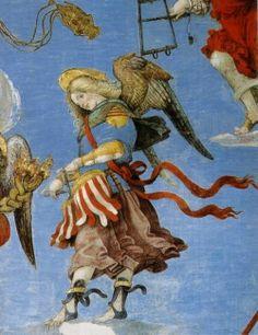 Detail -Filippino Lippi ; Angel w/drums, Carafa Chapel, Basillica of sta Maria sopra Minerva- Roma