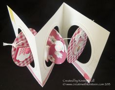 Another Triple Fold Card - and tutorial. Love the colours & style! Fun Fold Cards, Pop Up Cards, Cool Cards, Folded Cards, Kirigami, Card Making Templates, Scrapbook Cards, Scrapbooking, Interactive Cards