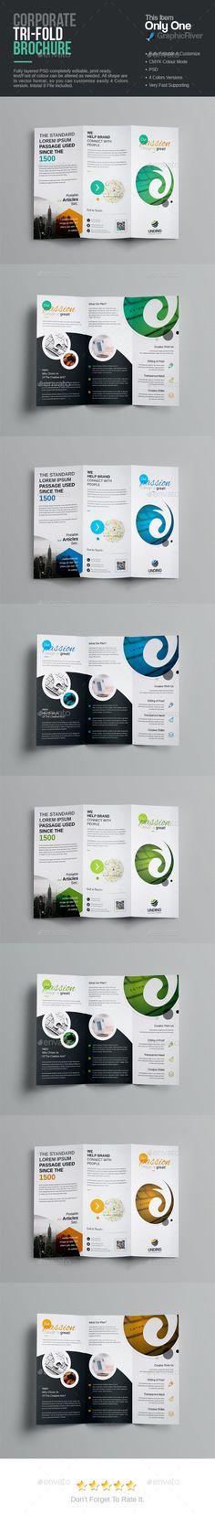 Tri-Fold Brochure - Corporate Brochures Download here : https://graphicriver.net/item/trifold-brochure/19281057?s_rank=99&ref=Al-fatih