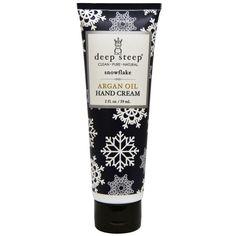 Deep Steep, Argan Oil Hand Cream, Snow Flake ( #Coupon code: GZK450)