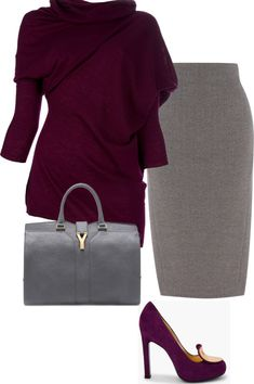 """""""Winter berry office chic"""" by tasnim-choudhury on Polyvore"""