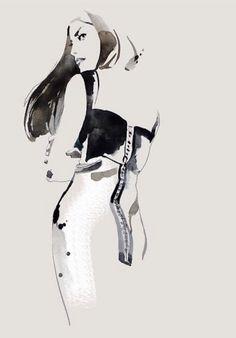 'Mermaid cut' dress