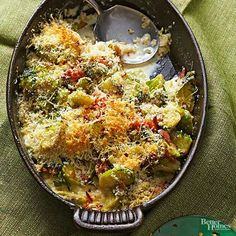 Brussels sprouts are the not-so-secret ingredient -- and star -- of this show-stealing dish. The best part? It will get the kids to ask for Brussels sprouts!/