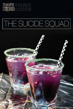 I am SUPER excited to see Suicide Squad – in theaters August 5th! So excited that this Purple Joker cocktail would be a perfect drink to have for it! Here's everything you need to make it.Serving size is 1 8oz glass! You'll also need a bar shaker and a couple of shallow plates. Be sure …