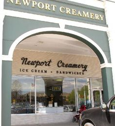 The Newport Creamery Rhode Island. They have the most amazing everything - but they don't call them what we do in Texas... really...cabinets and the Awful, Awful...but they're great! These by the way are milkshakes.