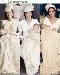 From left to right Kate Middleton holding Prince George, Princess Charlotte, and Prince Louis on the day each was christened Princesa Diana, Princesa Charlotte, Lady Diana, Looks Kate Middleton, Estilo Kate Middleton, Principe William Y Kate, Herzogin Von Cambridge, Princesa Kate Middleton, Kate And Meghan