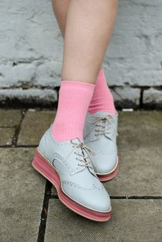 Oxfords with neon platforms <3