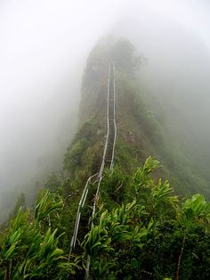 The Haʻikū Stairs, also known as the Stairway to Heaven or Haʻikū Ladder, is a steep hiking trail on the island of Oʻahu, Hawaii.