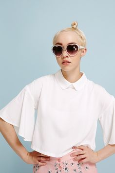 Bell Sleeve Angel Crop Top White: http://www.thewhitepepper.com/collections/tops/products/bell-sleeve-angel-crop-top-white
