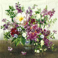 Servítka Kytica divých kvetov