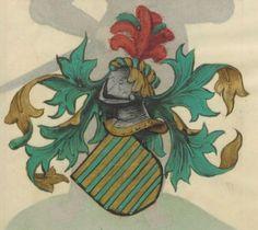 Armorial de la Table ronde.  Date d'édition :  1490-1500  Ms-4976  Folio 141r