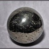 Large Golden Pyrite 7.9 inch 33 lb Polished Crystal Sphere - Peru