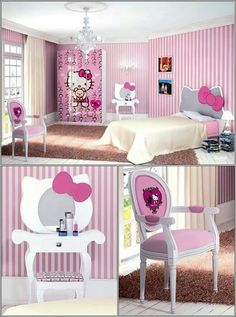 Amazing Interior Design Turn Your Little Girlu0027s Room To A Hello Kitty World!