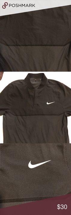 Men's Nike golf shirt Black Nike golf shirt  Really light weight  Grey Nike symbol  Dri-fit  Medium  Nike golf Nike Shirts