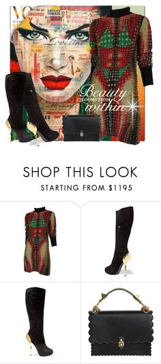 """""""Love Line~"""" by rj-cupcake ❤ liked on Polyvore featuring Crispin, Jean-Paul Gaultier, Giuseppe Zanotti and Fendi"""