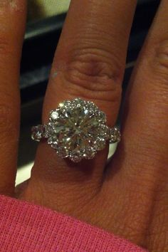 Christopher Designs Engagement Ring. i think i'd pass out if i was proposed to with that