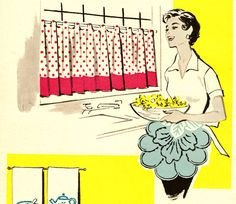 Fifties Happy Housewife ~ cute vintage apron