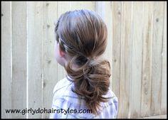 Girly Do's By Jenn: Side Twists into Ponytail