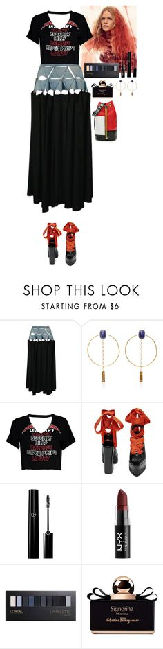 """Outfit"" by eliza-redkina ❤ liked on Polyvore featuring Yohji Yamamoto, Isabel Marant, Boohoo, Péro, NYX, L'Oréal Paris, Salvatore Ferragamo, StreetStyle, outfit and like"