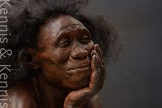 Moesgaard Museum, reconstructions of our ancestors made by Adrie and Alfons Kennis Homo Floresiensis