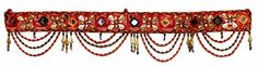 Home Decor Traditional Beaded Embroidered Window Valence Door Hanging AIDH915 #Handmade #Hanging From India