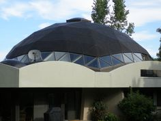 Copper roof dome with skylight triangle windows