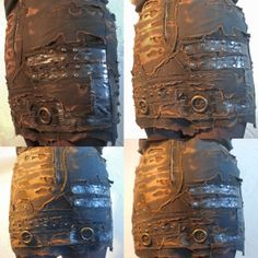 Sordid Skin Mini Skirt Post Apocalyptic Distressed by AtomicKiss