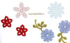 Crocheted flowers: 100 floral motifs to crochet schemes [in Russian]